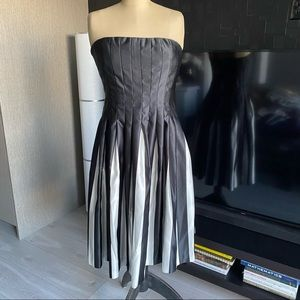 BCBG Black & White Strapless Dress